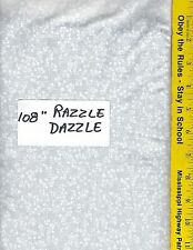 "RDW - W/W, 108"" EXTRA WIDE QUILT BACKING BTY: RAZZLE DAZZLE. WHITE ON WHITE"