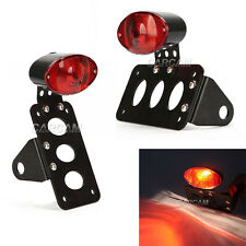 Side Axle Mount License Plate Bracket For Harley Dyna Softail Sportster Cruiser