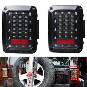 Car LED Tail Light Rear Brake Reverse Turn Signal Lamp For 07-17 Jeep Wrangler