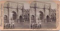 Roma Italia Foto Stereo Vintage Albumina 1897