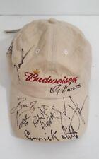 Autographed Budweiser Beer Strapback Hat Adjustable Cap