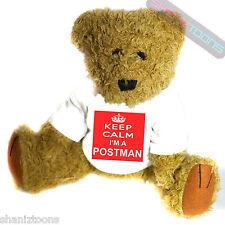 Keep Calm Postman Novelty Gift Teddy Bear