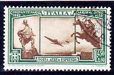 REGNO 1932 GARIBALDI  PA 4,50 LIRE+1,50 LIRA  1 VAL. USATO SPLENDIDO