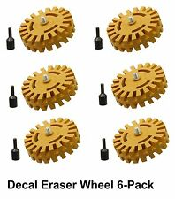 Decal Removal Wheel Pinstripe Removal Tool Car Decal Removal Eraser Wheel 6 pack