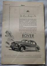1950 Rover Seventy-Five Original advert No.1