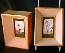 Vintage French Miniature Erotic Nudes Enamel on Copper