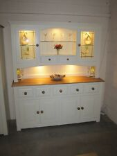 HAMPSHIRE PAINTED 4 DOOR 5 DRAWER DISPLAY DRESSER HAND MADE SOLID PINE SOLID OAK