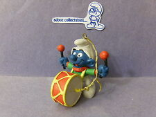 SMURF -- Christmas Gold Cord Ornament -- Drummer !!!