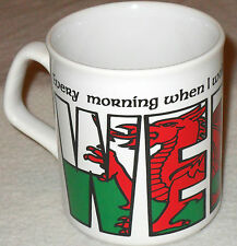 THANK THE LORD IM WELSH MUG WALES RUGBY GIFT 6 NATIONS RED DRAGON FOOTBALL