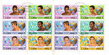 AJMAN 1972 OLYMPIC GOLD MEDAL WINNING BOXERS IN FULL SHEET CTO
