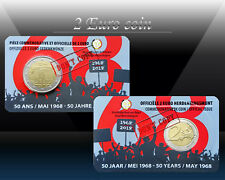 BELGIUM 2 EURO 2018 (50th anni of May 1968 events) 2 euro Comm. Coin * CoinCard