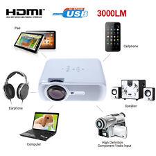 US STOCK 3000 Lumens HD Home Cinema Multimedia LED/LCD Projector HDMI//VGA/AV/3D