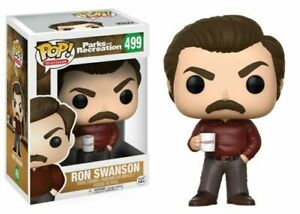 Funko Pop Television Toy Figure, Ron Swanson #499, Parks and Recreation