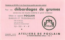 BUVARD Publicitaire - POCLAIN - Débardage agrumes, Le Plessis-Bellevile (Oise)