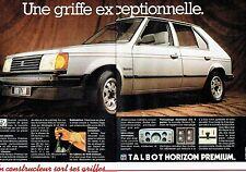 PUBLICITE ADVERTISING 027  1982  Talbot Horizon (2p)  berline Premium