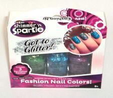 CrazArt Shimmer 'n Sparkle GOT TO GLITTER! 3 Fun Fashion Shades NIB
