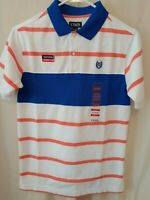 CHAPS RALPH LAUREN boys POLO shirt top  NWT $25.00 XXS 4/5 white coral blue BTS