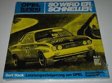 Tuninganleitung Opel Ascona Manta A Kadett GT Gert Hack So wird er schneller NEU