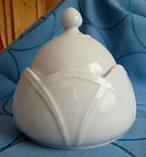 Höchst schöne Bonboniere Deckeldose Weiß  * 12 cm Durchmesser * schöne Form