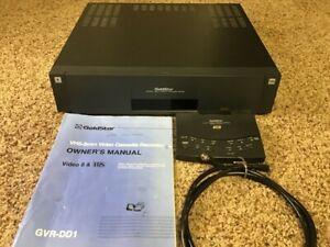 Goldstar GVR-DD1 VHS 8mm VCR Video Cassette Player Recorder REMOTE & Manual