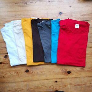 7 small MENS tee unisex BUNDLE Tshirt pack T-shirts plain job lot mixed B cheap