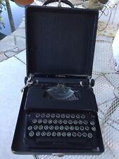 Vintage 1930's Working L. C. Smith & Corona Inc Typewriter Black Carrying Case