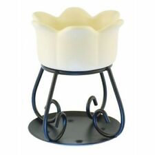 Cream Coloured Yankee Candle Ceramic Petal Wax Burner 12cm Height 10cm Diameter