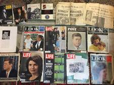Lot JFK John F Kennedy Assassination Newspaper 1963 Life Look Post Book Postcard
