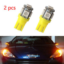 2pc Yellow 10 921 158 168 Interior License Plate Dome Light Bulbs 5 LED lamps