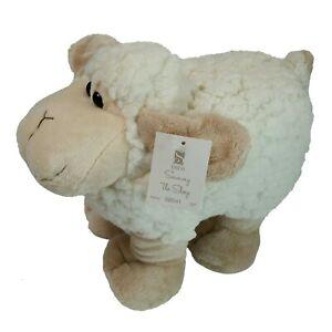 "12"" bebe Sammy The Sheep Ivory Plush Pillow Stuffed Animal Sherpa Wooly Toy"