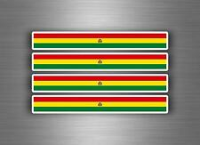 4x sticker adesivi adesivo vinyl auto moto tuning bandiera jdm bomb bolivia