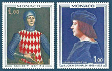Princes of Monaco Rainer I, Lucien Grimaldi 1967 Mint NH Complete Set #674 - 67