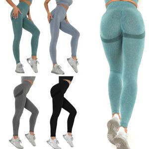 Women High Waist Gym Legging Seamless Yoga Pants Running Sports Fitness Trous I-