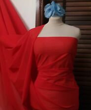 """Red Power Net Mesh Stretch Fabric Extra Wide 75"""" £5 pm  FREE P&P Bargain"""