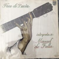 "PACO DE LUCIA: interpreta a manuel de falla Philips 12"" LP 33 RPM"