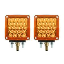 pair grand general led amber/red lens double turn signal light universal new