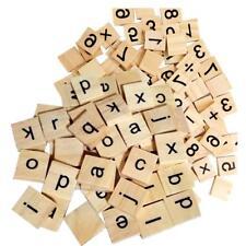 200pcs Wooden Number Blocks Cube Tiles Black Letters For Kids Wood Crafts