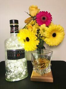 Highland Park Whisky Bottle Light, 100 Lights, Original Top, Warm White