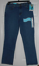 Lee Stretch Authentic Azul Relaxed Fit Straight Denim Jeans Size 8 Short NWT
