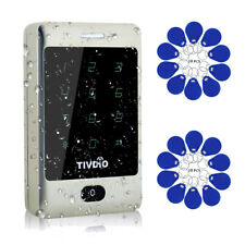 Zutrittskontrollsystem Wasserdichte Touchscreen-Tastatur+20*RFID-Schlüsselanhäng