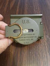 Vintage BRUNSON LENSATIC 1-51 US Army Military Compass Brunson w/pouch CLEAN