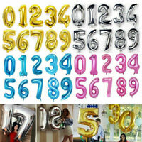 "40"" Giant Foil Number Balloons Wedding Letter Air Helium Birthday Age Party New"