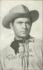 Cowboy Actor Peter Cookson Arcade/Exhibit/Mutoscope Card