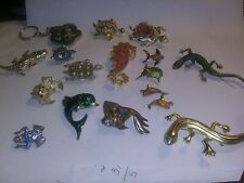 Lot 17 Fish Lizzards Turtles Alligator Frog Sea Horse Pins