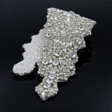 Silver Crystal Rhinestone Applique Trim Wedding Bridal Dress Belt Sash DIY Decor