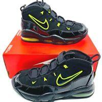Nike Mens Air Max Uptempo Basketball Shoes Black CK0892-001 Cushioned Sz 10.5