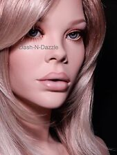 Female mannequin wig bust BLUE  GLASS EYES!