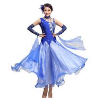 NEW Ladies Girls Latin Salsa Cha cha Tango Ballroom Dance Dress Long Dress S900