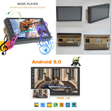 Car Android 8.0 Double Din Touch GPS Stereo Radio FM MP5 Quad Core Wifi