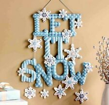 Bucilla LET IT SNOW Winter Felt Christmas Wall Hanging Kit~Snowflake OOP F.D.